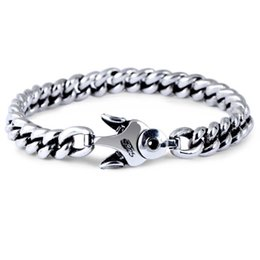 $enCountryForm.capitalKeyWord Australia - Wholesale New Product Fashion Jewelry Rhodium Plated 925 Sterling Silver Chunky Curb Chain Bracelet for Men