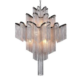 $enCountryForm.capitalKeyWord Australia - Penant Lamps French Empire Aluminum Chain Chandelier Light Fixture Lustre Hanging Suspension Lamp luminaria Chain Project Lighting