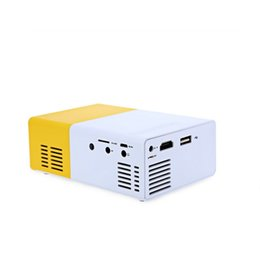 led media player Canada - Mini LED Projector YG300 LED Light Multi-media Pocket Portable Projector 400-600LM 3.5mm Audio HDMI USB Mini Projector Home Media Player