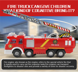 red toy trucks Australia - FireTruck Toy Car Shooting Water Lights N Sounds Fire Truck Toy Rescue Vehicle Gift Inertia Toy for Kids