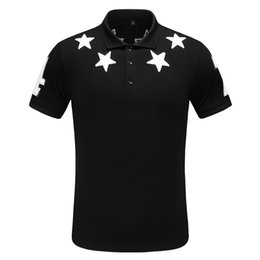 Chinese  new Men's lapel T-shirt chest novelty leather star decals fashion sense full body upper body age manufacturers