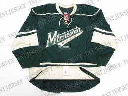 Minnesota Wild Jerseys Australia - Cheap custom MINNESOTA WILD THIRD TEAM ISSUED JERSEY stitch add any number any name Mens Hockey Jersey XS-5XL