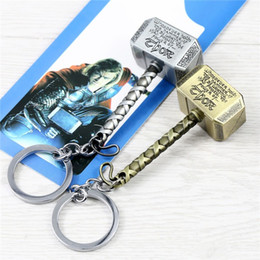 $enCountryForm.capitalKeyWord Australia - 2 Color Avengers Marvel Thor's Hammer Keychains Thor Stainless Steel Hammer Metal Pendant Keychain Thor Cosplay Hammer