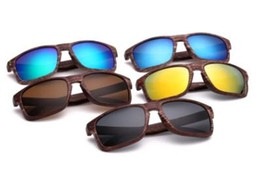 Sun Design Shade Glasses Australia - Retro Wood Sunglasses 9102 Men Bamboo Sunglass Women Brand Design Sport Goggles Gold Mirror Sun Glasses Shades lunette oculo