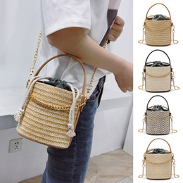 best sale handbags Australia - 1pcs Women Straw Woven Handbag Vintage Chain Large Capacity Messenger Bag Best Sale-WT