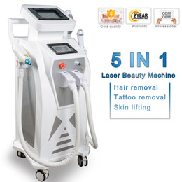 Wholesale 2020 multifunction ipl laser hair removal nd yag laser tattoo removal machine rf face lift elight opt shr ipl