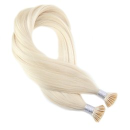 Real human haiR extensions blonde online shopping - Platinum Blonde Extensions Human Hair Real Brazilian Hair Keratin Pre Bonded Fusion Hair