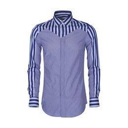 3138ab4b41d Contrast Multi-striped Mens Shirt 2019 Fashion Slim Casual Shirts Men High  Quality Cotton Silk Camisa Masculina Plus Size 4xl 48