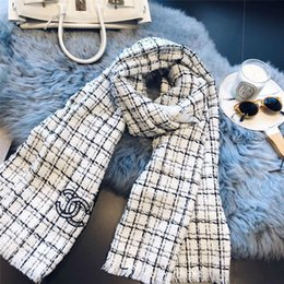 Scarfs Cotton Australia - Winter Scarf Women Plaid Scarf Designer Cashmere Shawls Women's Scarves Dropshipping