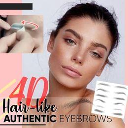 Опт Magic 4D Hair-like Eyebrow Tattoo Sticker накладные брови 7 дней длительный супер водонепроницаемый макияж глаз брови наклейки косметика