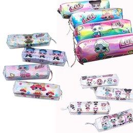 Stationery Australia - Laser Surprise Girls Designer Coin Purse Pencil Bags Luxury Wallet Boy Girl Brand Card Holder Pencil Case Cartoon Mermaid Stationery A52204