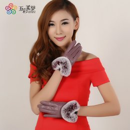$enCountryForm.capitalKeyWord Australia - 2017 Sale Adult Tactical Gloves New Ladies Leather Gloves Lady Rabbit Hair Kouqiu Winter With Thermal Touch Screen Sheep Women