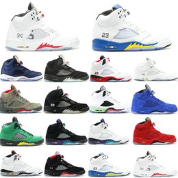 $enCountryForm.capitalKeyWord NZ - Mens 5 5s Basketball Shoes Sneaker Black Suede Trophy Room Laney Satin Bred Inspire Wings Oreo Olympic Women
