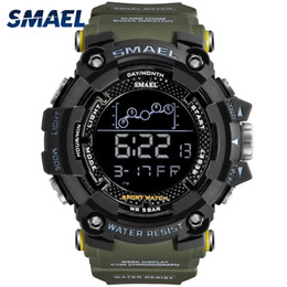 Sports Clocks Australia - Waterproof Chronograph Digital Watch For Men Fashion Outdoor Sport Wristwatch Top Brand SMAEL Men's Watch Alarm Clock
