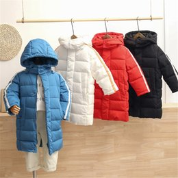 Korean toddlers online shopping - Children s Winter Warm Down Jackets Baby Boys Girls Korean Style Long Hooded Coats Kids Outwear Parkas Toddler Outfits Clothing