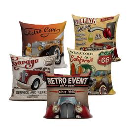 $enCountryForm.capitalKeyWord UK - 45x45cm Nordic Decoration Home Cushion Cover Vintage Cars Pillows Car Travel Trip English Letters Sofa Decor Beige Linen Pillow Cases
