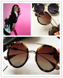 $enCountryForm.capitalKeyWord Australia - Luxury-fashion Chrome sunglasses brand designer round plate retro double beam glasses fine silver accessories anti-UV lens with original box