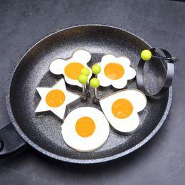 $enCountryForm.capitalKeyWord Australia - Stainless Steel Fried Egg Shaper Pancake Mold Kitchen Cooking Tools Fried Egg Ring Pancake Mould WB76