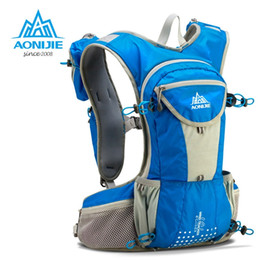 Hydration Backpack Running Australia - AONIJIE 12L Outdoor Sport Running Backpack Marathon Trail Running Hydration Vest Pack for 2L Water Bag Cycling Hiking Bag E905 #214456