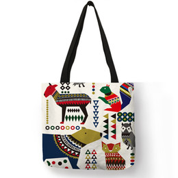 $enCountryForm.capitalKeyWord Australia - Original Unique Pattern Hand Bag Geometric Floral Animal Elephant Squirrel Bird Bear Owl Shoulder Bag Casual Daily Use Tote Sack