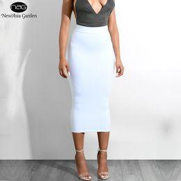 b3dba020bc Newasia Garden 2 Layers Bodycon Midi Skirt Sexy High Waist Long Skirt Maxi Pencil  Skirt Plus Size Autumn Skirts Womens Saia Midi Y19043002