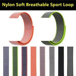 $enCountryForm.capitalKeyWord Australia - Nylon weave loop bands for apple watches series 1 2 3 4 38mm 40mm 42mm 44mm iwatch sport soft bracelet straps wrist watchbands