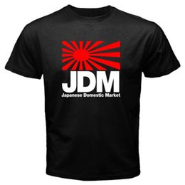 Wholesale New JDM Japan Domestic Market Symbol Logo Mens Black T Shirt Size S XL Personality Brand Short Sleeve Tops Tee
