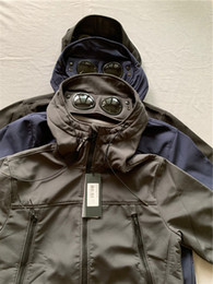 Wholesale windbreaker shell resale online – High Quality CP Jacket Mens Brand Coats Zipper Windbreaker Company Designer Jacket Shell Goggle Hood Jacket Hooded Streetwear L