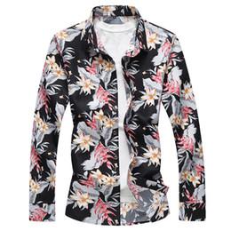 Mens Plus Size Silk Shirts Canada - 2018 spring good quality plus size 7XL shirt top silk men long sleeve mens designer dress shirts