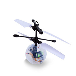 Wholesale Toys Helicopter NZ - Kids' Gift RC Flying Ball RC Infrared Induction Helicopter Ball Built-in Shinning LED Lighting for Kids Teenagers Colorful Flying Toys EMS