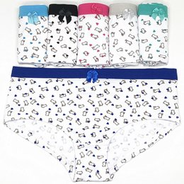 sexy cartoons NZ - Girls Cute Briefs Cartoon Rabbit Printed Women Underwear Daily Wear Pants Sexy Panties Female Briefs 12 Piece\lot