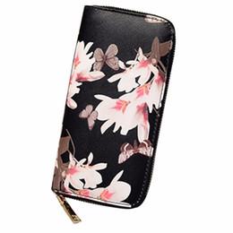 Woman Wallets Butterfly Australia - 2019 New Women Butterfly Zipper Long Wallet Girls Cute Flower Purse Card Holder Coin Bag Clutches Bags Fab Women Bag Women Bag