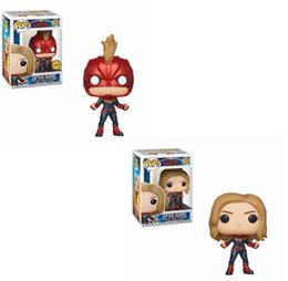 40eb5fba Funko POP Captain Marvel 425# Vinyl Doll Boy Girl Friend Birthday Party  Gift Action&Toy Collection for Movie Fans
