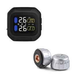 $enCountryForm.capitalKeyWord UK - WI Motorcycle TPMS Real-time Tire Pressure Monitoring car Alarm with LCD display Max 8.0 Bar 116PSI