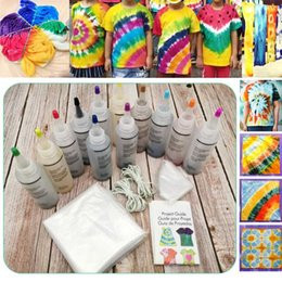 5/12/18 Bottiglie Tulip permanenti One Step Tie Dye Set kit fai da te per il tessuto di tessile Craft Arte Clothes for Solo Progetti coloranti,