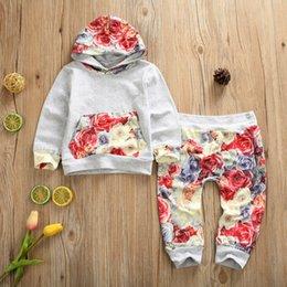 Опт 2шт новорожденный малыш мальчики девочки с капюшоном топы футболка+брюки спортивный костюм наряды комплект одежды