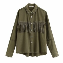 european fashion jackets Canada - BB83-9495 European and American fashion fringe decorative jacket Y200101