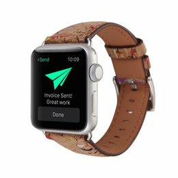 $enCountryForm.capitalKeyWord UK - Watch Bands for iwatch 38mm 42mm For Apple Smart Watch Women Men Wood Grain Genuine Leather Bracelet Replacement Business High Quality Strap