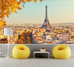 designed kitchens NZ - Custom 3D Wallpaper Design Autumn In Paris Photo Kitchen Bedroom Living Room Wall Murals Papel De Parede Para Quarto