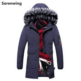 winter parka jackets for men Australia - Casual Men's Coat Winter Hooded Mens Parkas Thick Warm Parka Jacket Windbreakers for Men PP Cotton Padded Overcoat Outerwear