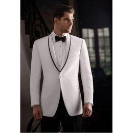 $enCountryForm.capitalKeyWord Australia - Custom Made White Men Suits Peaked Lapel Suit Separates Best Men Jacket For Weddings Business Mens Jacket+Pants+BowTie