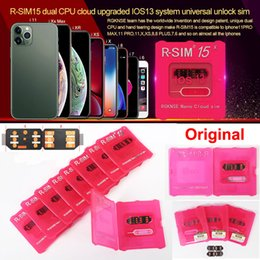 Ingrosso RSIM15 per sbloccare iOS13 carta rSIM 15 RSIM15 rSIM 15 CPU doppio aggiornato sblocco universale per iPhone 11 Xs MAX XR XS X 6 7 8 PLUS ios7-13.x