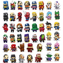 Marvel Blocks Figure Australia - 58 Designs anime figures toys marvel avengers spiderman dragon ball goku action figures building blocks anime figures kids toys SS176
