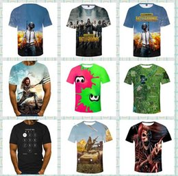Discount t shirts emoji faces - 2019 cheap price 3D Designer animal Face summer t shirts pubg mobile wolf Men's Tees polos funny Emoji letter print