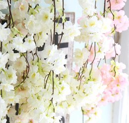 cherry blossom roses Canada - Cherry Blossom Plant Wall Cherry Tree Simulation Rose Flower Export Plant Decoration Wedding Holiday Flower Home Decoration