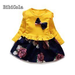 8777f701e4e2 good quality Kids Girls Clothes Girls Spring Knit Dress Korean Cute Lace  Mesh Embroidered Princess dress Children Long Sleeve Dress