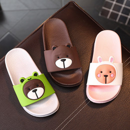 $enCountryForm.capitalKeyWord Canada - Teenage 3-15Y Kids Girls Boys Bear Slippers Summer Sandals Children 10 sizes soft soles Water Shoes Beach Flip Flops for Kid