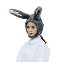 $enCountryForm.capitalKeyWord UK - Cute Cartoon Bunny Ears Hat Headdress Plush Toy Sweet Kawaii Style Rabbit Hat Tiara Props Girlfriend Gift Novelty Gift Surprise