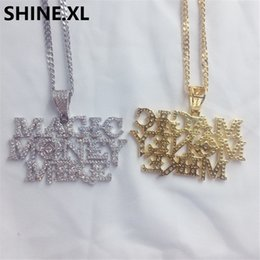 Magic Plates Australia - Micro Paved Zircon Custom Letter MAGIC MONEY MIKE Pendant Necklace Gold Silver Plated Charm Men Hip Hop Jewelry Gift