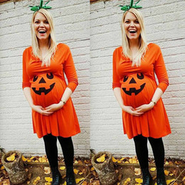 Devil clothing online shopping - vetement femme Womens Halloween maternity clothes dress Nursing Nightgown Pregnancy Halloween Devil Print Dress Clothes